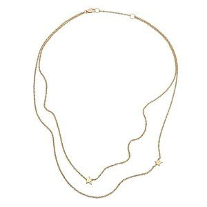 NWT Jennifer Zeuner Gold Star Double Necklace